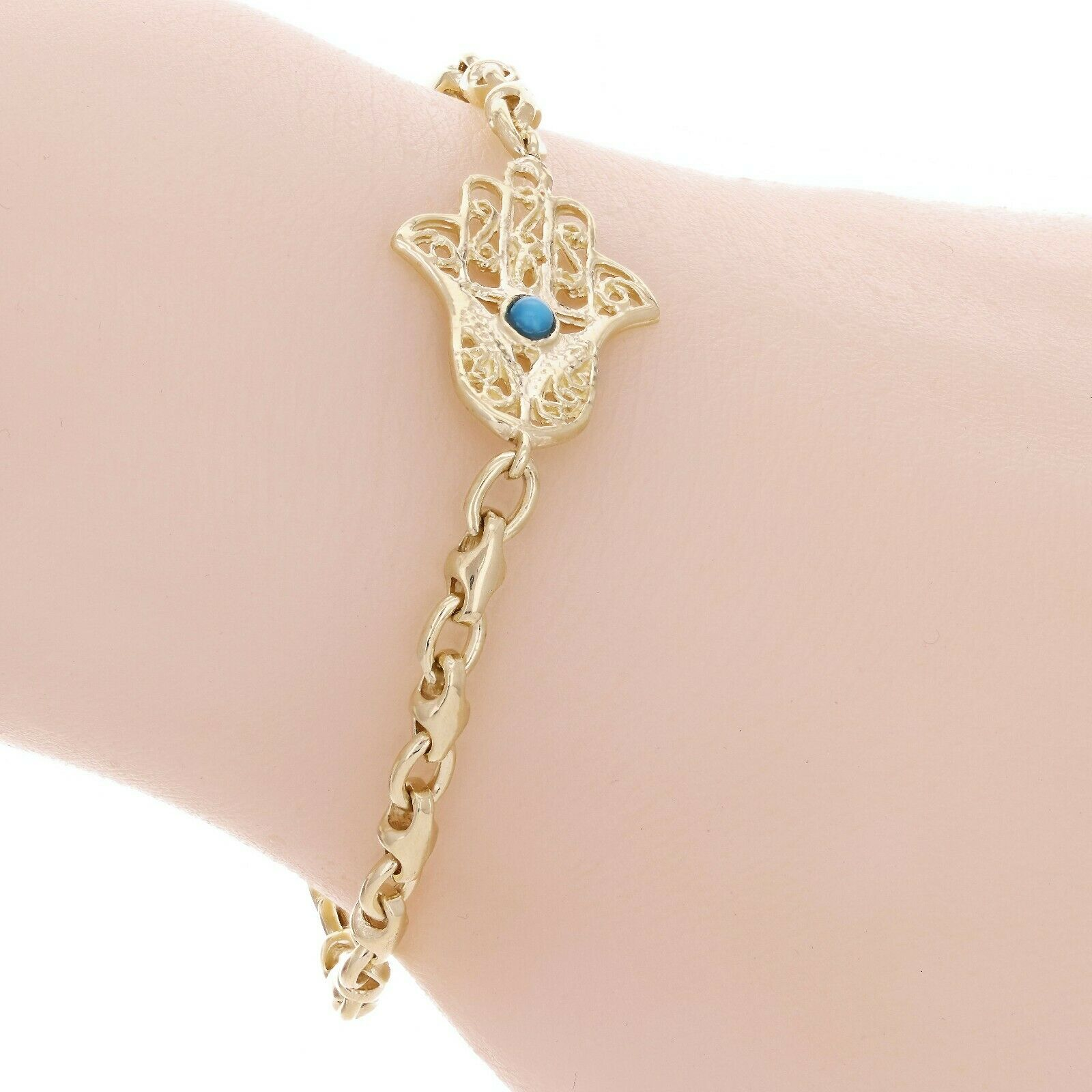 14k Yellow Gold Hamsa Hand Of Fatima
