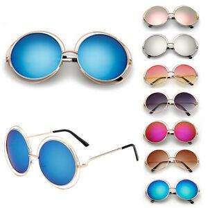 Retro-Womens-Vintage-Shades-Oversized-Round-Frame-Sunglasses-Eyewear-Fashion