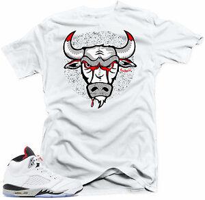 5496e448e50340 Shirt to match Air Jordan Cement Retro 5 Cement sneakers. Bull 5 ...