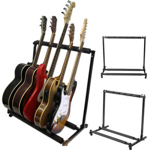 New-5-Holder-Guitar-Band-Stage-Bass-Acoustic-Guitar-Stand-Storage-Rack