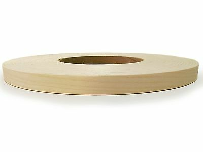 "WHITE BIRCH WOOD VENEER EDGEBANDING PREGLUED Size (5/8"" to 2"") x 250' ROLL"
