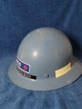 Msa Skullgard Full Brim Hard Hat With Ratchet Suspension Blue