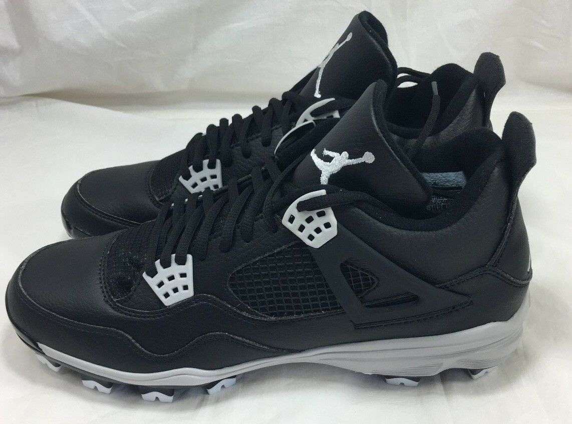 Nike Air Jordan 4 IV Retro MCS Baseball Cleats Black Grey 807709-010 Size 15