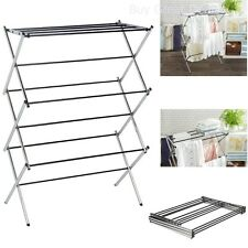 Clothes Drying Rack Laundry Folding Hanger Dryer Indoor Foldable Household CHROM