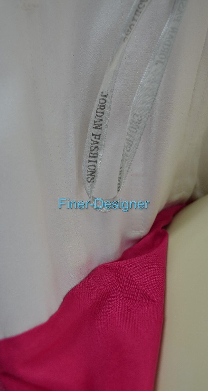 Jordan wedding Dress formal gown hot pink white bow strapless strapless strapless 4 6 S VTG 80s NEW 402e40