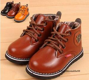 2016 new fashion Boys Martin boots Toddler shoes Baby kids children Size5.5-10.5