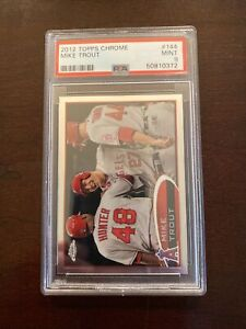 2012-Topps-Chrome-144-Mike-Trout-Angels-RC-Rookie-PSA-9-MINT