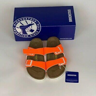 NEW IN BOX KIDS SIZE 36 BIRKENSTOCK ARIZONA SANDALS NEON ORANGE | eBay