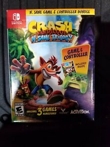 Details about Crash Bandicoot: N  Sane Trilogy Nintendo Switch & CONTROLLER  BUNDLE NEW SEALED