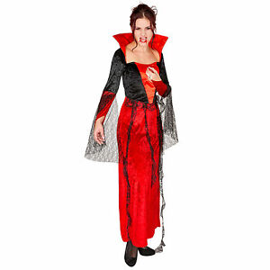sexy gothic vampirkleid kost m karneval fasching halloween damen kleid vampir ebay. Black Bedroom Furniture Sets. Home Design Ideas