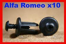 10 ALFA ROMEO RIVESTIMENTO INTERNO MOQUETTE COPERTURA Tappetino Fastener Clip Pin
