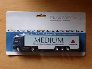 Modellino-autocarro-per-birra-Rimorchio-trasporto-BENZ-ACTROS-Apollinaris-MK-3