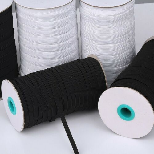 100 Yards Polyester Elastic Cord Stretch Trims for Sewing Crafts DIY Materials