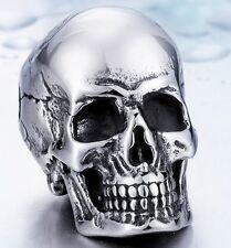 Edelstahl Anhänger Death Head incl. Kette 316L Skull Biker Gothic Emo MC  NEU