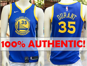 quality design 8e873 0a226 Details about NIKE AUTHENTIC KEVIN DURANT 35 Swingman ICON Jersey Golden  State Warriors 2018