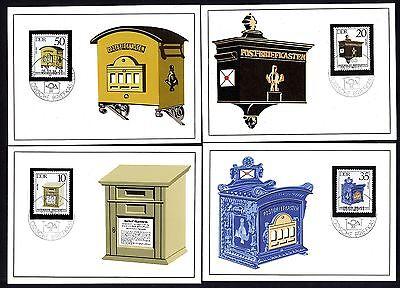 Ddr 2924/7 Maximumkarten Historische Briefkästen Reinweiß Und LichtdurchläSsig Briefmarken