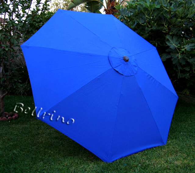 9ft Patio Outdoor Yard Umbrella Replacement Canopy Cover Top 8 Ribs Royal Blue