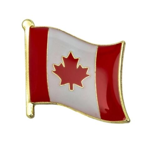 CANADA CANADIAN MAPLE LEAF FLAG ENAMEL PIN BADGE BRAND NEW FREE POST