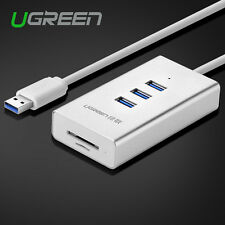 Ugreen 3 Port Aluminum USB 3.0 HUB With Multi-in-1 SD TF Card Reader For Mac PC