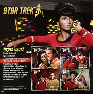 Tuvalu-2016-MNH-Star-Trek-Original-Series-50th-Anniv-Nyota-Uhura-4v-M-S-Stamps