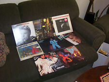 DAVID BOWIE 8 LP LOT w ZIGGY STARDUST, THE MAN WHO SOLD THE WORLD, DAVID LIVE