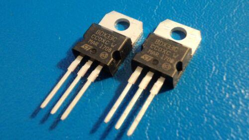 St BDX33C bipolaire BJT Darlington NPN unique Transistor Qty = 2