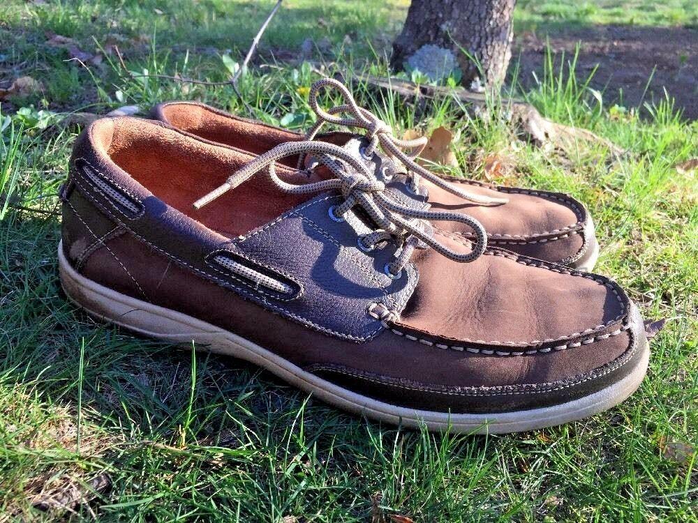 Scarpe casual da uomo  FLORSHEIM Boat Deck LEATHER Saddle OXFORD LOAFERS Dress Casual uomos Shoes Sz 13