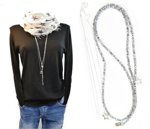 Schmuckset 2 piezas y-cadena larga plata abalorios /& pequeño resbalón cadena de plata nuevo