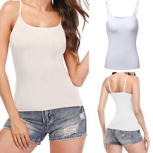 Ladies-Cami-Camisole-Yoga-Tank-Top-Shelf-Bra-Women-Strappy-Vest-Padded-Bra-Gym