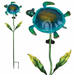 Image Is Loading Nautical Decor Solar Garden Stake Crab Or Turtle