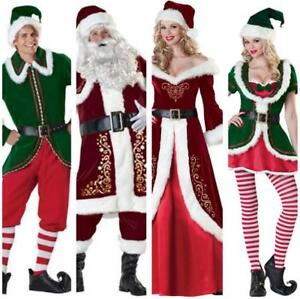 6e891bfb50 Christmas Santa Claus Cosplay Adult Suit Miss Mrs Dress Party ...