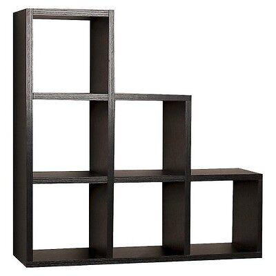 Stepped Six Cube Decorative Wall Shelf
