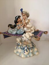 Disney Traditions Magic Carpet Ride Musical Aladdin Jasmine Jim Shore Light Up