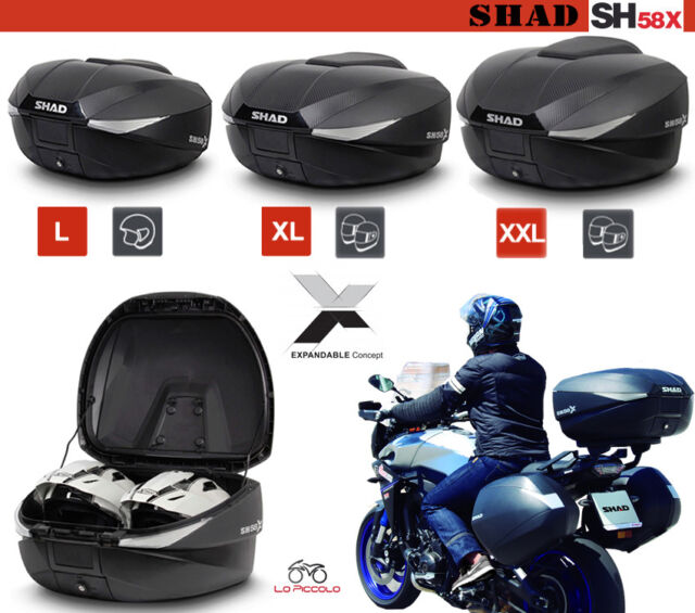 Bauletto Shad SH58X Extensible Carbono + Placa + Ataque Honda VFR 1200F 2011