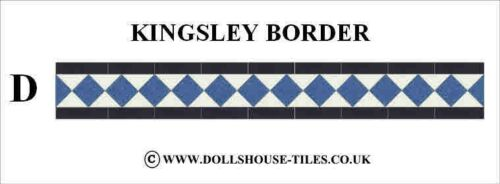 DOLLHOUSE MINIATURES,DOLLHOUSE MINIATURE TILES /& FLOORING KINGSLEY BORDER PACK