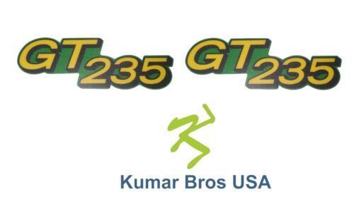 New Lower Hood Set of 2 Decals Replaces M146010 Fits John Deere GT235 Up S//N