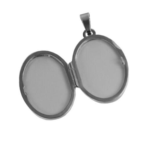 Medaillon Zirkonia Silber mit Kette und Gravur zB Sternzeichen Amulett Medallion