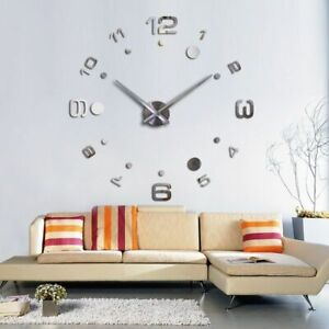 Wall-Clock-Acrylic-Mirror-Stickers-Home-Decorations-3D-DIY-Watches-Quartz-Clocks