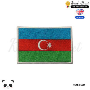 AZERBAIJAN National Flag Embroidered Iron On Sew On PatchBadge For Clothes etc