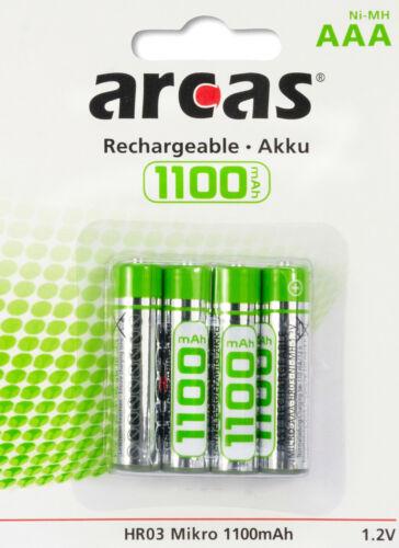 Arcasdemos Battery AAA Micro Ni-MH 1100mAH 1,2V ACCU for Gigaset A58H