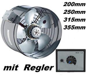 Axial-Ventilateur-Helicoide-Tubulaire-250-mm-avec-regulateur-de-vitesse-de