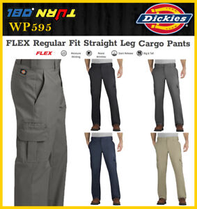 3b1b9578 Dickies Men FLEX Regular Fit Straight Leg Cargo stretch Pants WP595 ...