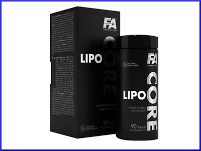 Fitness Authority Lipo Core 90 Tabs Strong Fat Burner Diet & Weight Loss Pills