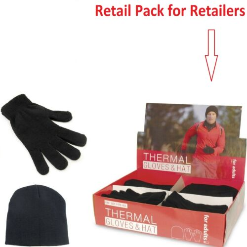 2SET MENS THERMAL HAT AND GLOVES WARM WINTER GIFT XMAS CHRISTMAS GIFT 1SET