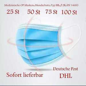 Medizinische Mundschutz OP Masken 3 Lagig Einwegmaske Typ IIR, / 2R ,EN,14683