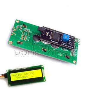 Yellow-Display-IIC-I2C-TWI-SP-I-Serial-Interface-1602-16X2-LCD-Module-TOP