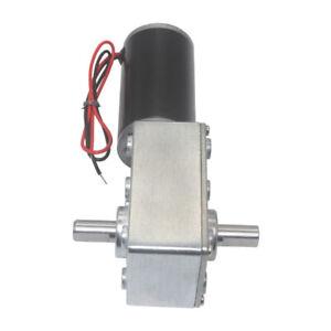 5840-31ZY DC 12V/24V Turbo Worm Geared Motor Dual Shaft Self-Locking 12-470RPM