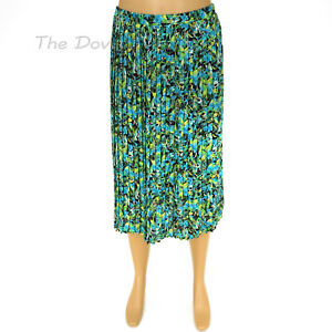 74bf366b46fce0 DANA BUCHMAN Women s X-LARGE MULTI-COLOR SKIRT Island Leaf Floral ...