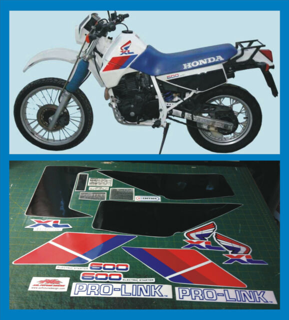 Honda XL 600 RM 1986/90 Bianco, con etichette - adesivi/adhesives/stickers/decal