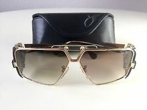 Cazal 955 Black Gold Movie Star Sunglasses German Made Wcase Strap